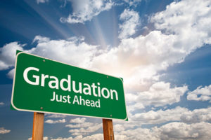 high school graduation ahead sign with information on high school graduation gowns in Australia