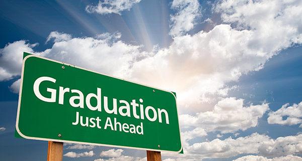 high school graduation ahead sign with information on high school graduation gowns in Australia